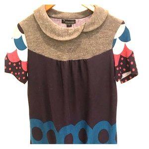 Reclaimed short colorful mini dress